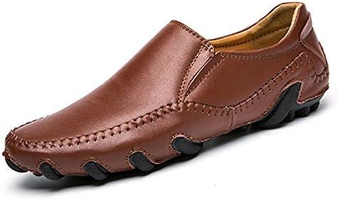 Zapatos De Cuero para Hombres Zapatos De Guisantes De Moda Zapatos De Conducción Zapatos Hechos A Mano De Tendencia