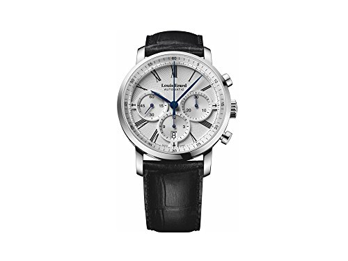 Montre Automatique Louis Erard Excellence Chrono Date, Argent, Cuir