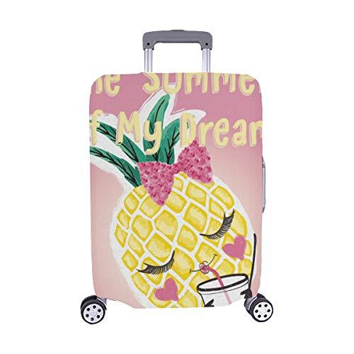 (Nur abdecken) Nettes Ananas-Grafik-T-Shirt Spandex- Staubschutz Trolley Protector case Reise-Gepäck-Schutz-Koffer-Abdeckung 28,5 X 20,5 Zoll