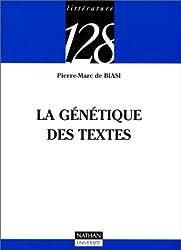 La génétique des textes