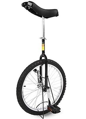 """Funsport Einstellbares Einrad 16"""" Zoll Mit Ständer Schwarz"""