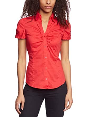 ESPRIT Collection Damen Bluse N28209, Gr. 34 (XS), Rot (corallo 808)