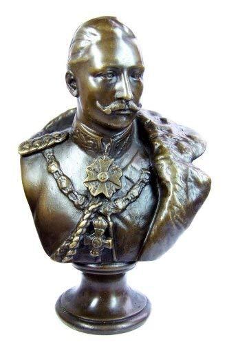 Kunst & Ambiente - Kaiser Wilhelm II. - Bronzefigur/Bronzebüste - Deutsches Kaiserreich - signiert - Büste Antik kaufen - Militaria - Deutscher Kaiser