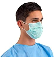 Mas-Q Mouth Mask Respirator Medical Disposable Face Masks 3 Ply (Pack of 50)