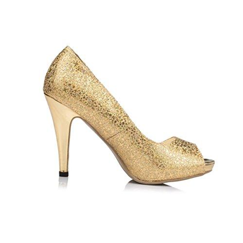 Kevin Fashion , Chaussures de mariage à la mode femme Or - Dorado - dorado