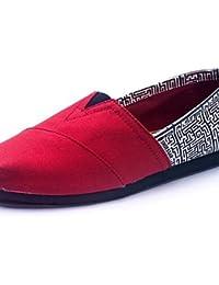 ZQ gyht Zapatos de mujer - Tacón Plano - Comfort - Mocasines - Exterior / Casual - Tela - Multicolor , coral-us8 / eu39 / uk6 / cn39 , coral-us8 / eu39 / uk6 / cn39