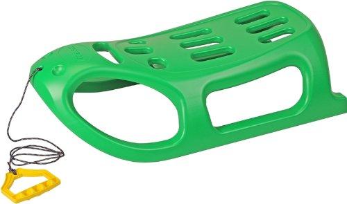 Stabilem kunststoff schlitten mit metall läufer und seil - Grün