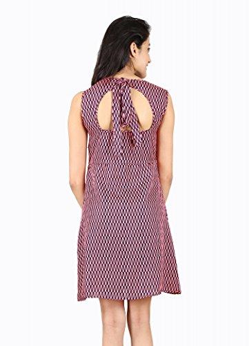 ABODOS-FASHION-Maroon-Printed-Crepe-Dress