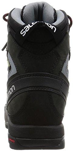 Salomon L39089600, Chaussures de Randonnée Homme Noir - Negro (Black / Asphalt / Flea)