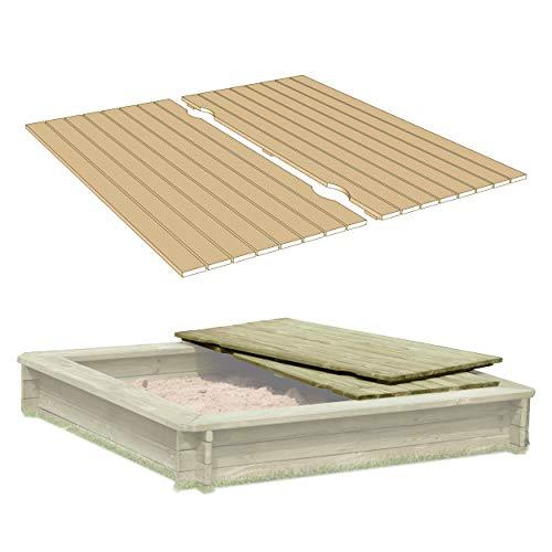 Gartenpirat Deckel aus Holz für Sandkasten Sandkastenabdeckung zweiteilig 158 x 157 cm