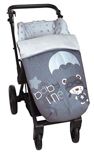 Saco de Bebé Universal Silla con Cubre Pies Polar, Desmontable con Cremalleras. Lavable a máquina. (Paracaidista)