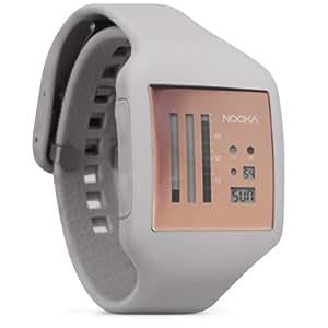 Nooka Unisex-Armbanduhr Zub Zenv Digital Automatik Kautschuk silber ZUB ZENV RO 20