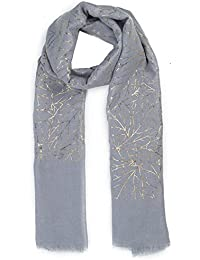 World of Shawls New Ladies Womens Glitter Foil Sparkle Print Scarf Scarves Clearance