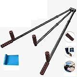 CAJOLG Beinspreizer aus Stahl Schlagpolster Beinspreizer Metall Bein trainingsgerät,Black,E