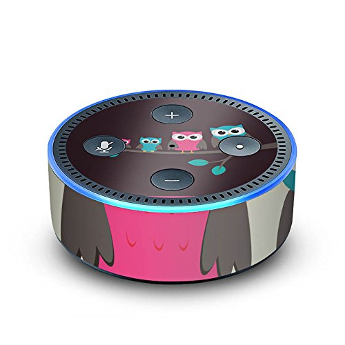 amazon Echo Dot 2.Generation Folie Skin Sticker aus Vinyl-Folie Eulen Cute Wald