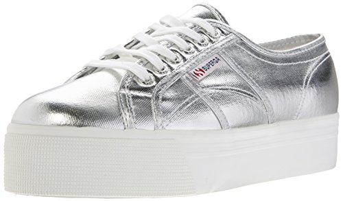 Superga 2790 COTMETW, Damen Sneakers, Silber (Silver), 41 EU( 7 UK )
