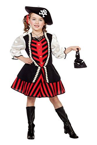 Jannes - Kinder Piraten Kostüm Mädchen (ohne Hut) - Hut Mädchen Indian Für