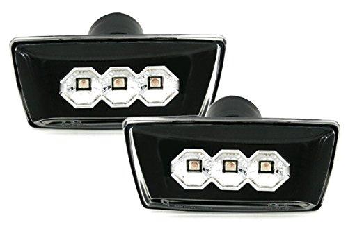 Cabrio Sport-bh (LED Seitenblinker Set in Klarglas Schwarz)