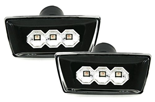 LED Seitenblinker Set in Klarglas Schwarz