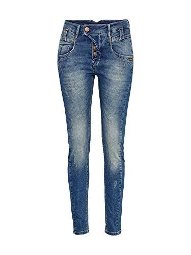 GANG Damen Slim Jeans (schmales Bein) Marge - Denim auth, Gr. W29/L32 (Herstellergröße:29), Blau (Predator Wash 2794)