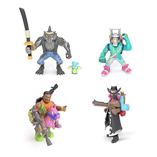 Fortnite 63520 Battle Royale Collection: Squad Pack-Dire, Calamity, DJ Yonder & Giddy UP, Mehrfarbig Royale Collection