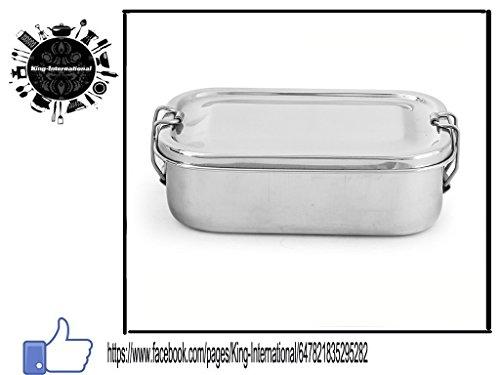 King International Henkelmann aus Edelstahl, Bento, Brotdose,/Tiffin-Box, 16,5cm