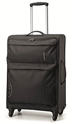 Carlton – Carlton v-lite (maleta de ruedas giratorias, 55 cm), color negro