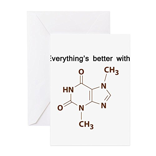 Press Duschvorhänge, Cafe (CafePress–Schokolade Chemie Grußkarten–Grußkarte, Note Karte, Geburtstagskarte, innen blanko, glänzend)