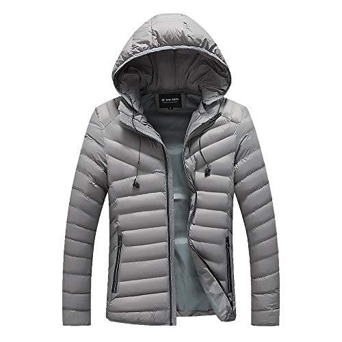 Beonzale Herren Herbst Winter Jacke Outdoor Funktionsjacke Freizeitjacke Outwear Slim Long Trench Zipper Caps Coat Jacke Mantel
