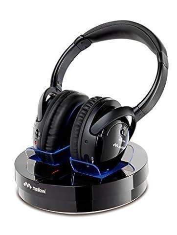 Meliconi HP 300 Professional Casque sans fil pour TV/Ordinateur/iPod/iPhone/iPad