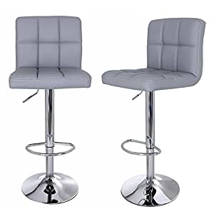 kitchen island chairs or stools songmics 2 x bar stools chairs with large seats breakfast 24755