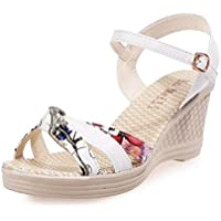 LBTSQ-bocca di pesce i sandali scarpe con una sola parola matrimonio scarpe sposa di scarpe fiori moda scarpe da donna.trentaquattro white