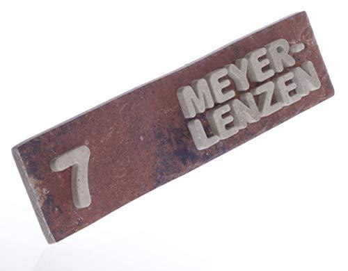 """Magnetisches Stein-Schild""""Brick"""" für Metall-Briefkasten/Türschild/Namensschild/Büroschild, individuell, mit Name & Haus-Nummer in 6 x 25 cm, von JUNGLELIGHTS"""