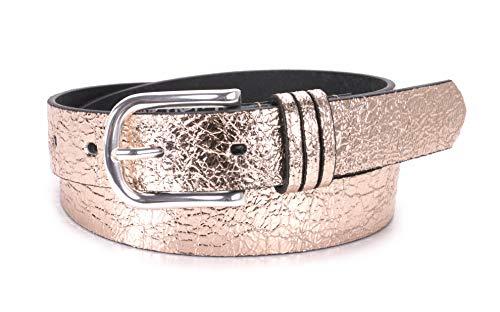 Suri Frey Gürtel - Damen Glänzender Gürtel - 180026 - silber, grau, braun, gold, bronze oder lila (Gold, 85)