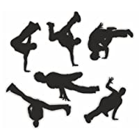 Sea View Stickers 6 Street Dance Silhouette Stickers - Black