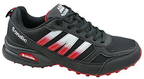 GIBRA® Herren Sportschuhe, sehr leicht und bequem, schwarz/rot, Gr. 41-46 Schwarz/Rot