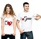 t-shirteria Coppia T-Shirt San Valentino Me & You - Love - Amore - Idea Regalo...