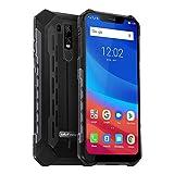 Ulefone Armor 6 (2019) Outdoor Handy 6GB RAM+128GB ROM+SD 256GB Helio P60 IP69K, 6.2 Zoll FHD Display 21MP +13MP Kamera 5000mAh Akku, UV-Detektor Outdoor Smartphone Dual SIM Global LTE, Schwarz