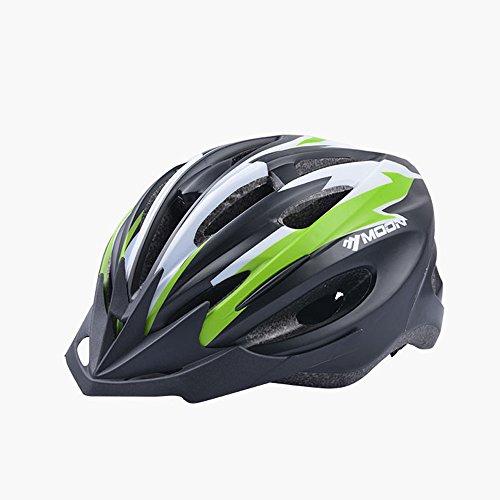 Green-motorrad-helme Dark (Qarape Qarape Profession Bike Helm mit Sicherheitslicht Einstellbare Sport Fahrradhelm Fahrrad Helme für Road & Mountain Biking Motorrad Sicherheit Schutz Outdoor Sports Helm für Erwachsene Männer Frauen ( Color : Dark green-L ))