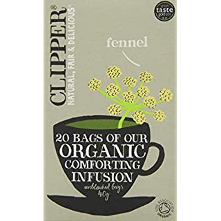 Clipper Organic Fennel Infusion 20 Teabags (Pack of 6, Total 120 Teabags)