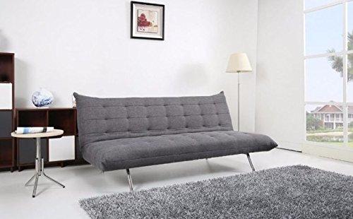 Pedro Schlafcouch / Schlafsofa / Klappcouch mit Schlaffunktion Polyester grau