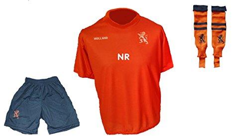 Holland Niederlande Trikot Hose Stutzen mit Wunschname Nummer Kinder Grösse 134