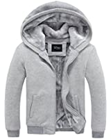 APTRO Herren Baumwollmischung mit Fleece-Futter-Winter-warme Hoodie Sweater