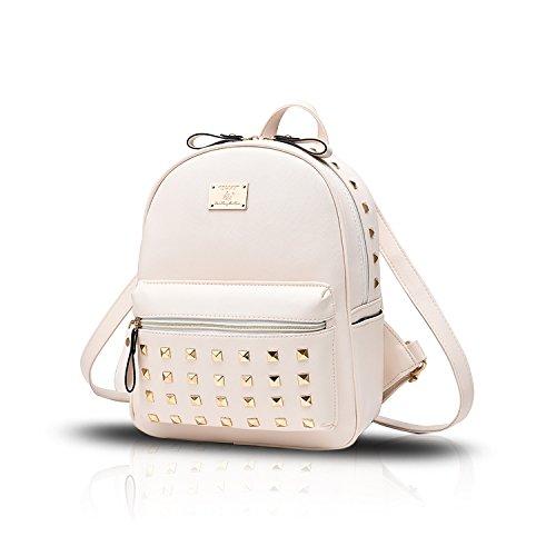Sunas Sacchetti delle signore di cuoio dell'unità di elaborazione delle borse del sacchetto di spalla dell'allievo rivetta lo zaino di corsa bianca