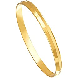 Shining Jewel 22k Gold Plated Punjabi Sikh Kada For Men (SJ_3089)
