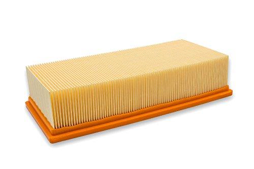 vhbw Flachfaltenfilter Lamellenfilter Filter für Staubsauger, Nass-/Trockensauger, Mehrzwecksauger, Waschsauger Wie Kärcher 6.904-283.0, 69042830