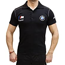 DG-Vision BMW M Power Logotipo Bordado Polos Hombres Negro Camiseta de Algodón Polo Sport Auto