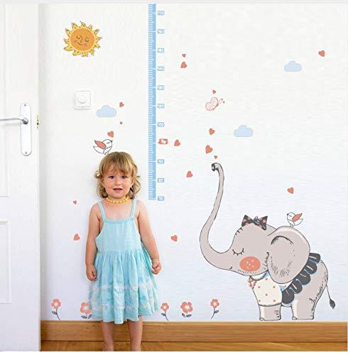 WHXJ Falda Vestida Elefantes Altura Medida Etiqueta De La Pared Niños Guardería...
