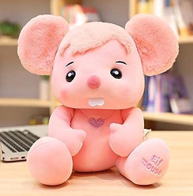 WHKJ Ratón Creativo Juguete de Peluche Lindo Zodiaco ratón Mascota Navidad Día de San Valentín Regalo de cumpleaños niños Comodidad Creativa muñeca Almohada 30cm de WHKJ