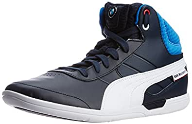 31341091191 Puma Men s BMW MS MCH Mid BMW Team Blue-White Leather Running Shoes ...